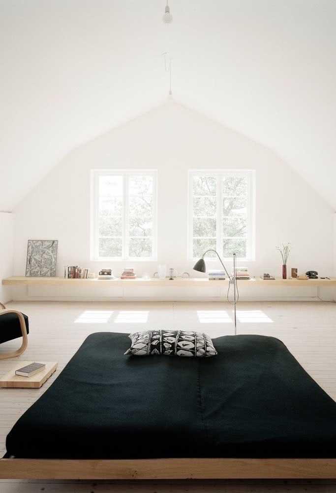 Sótão decorado no melhor estilo moderno e minimalista