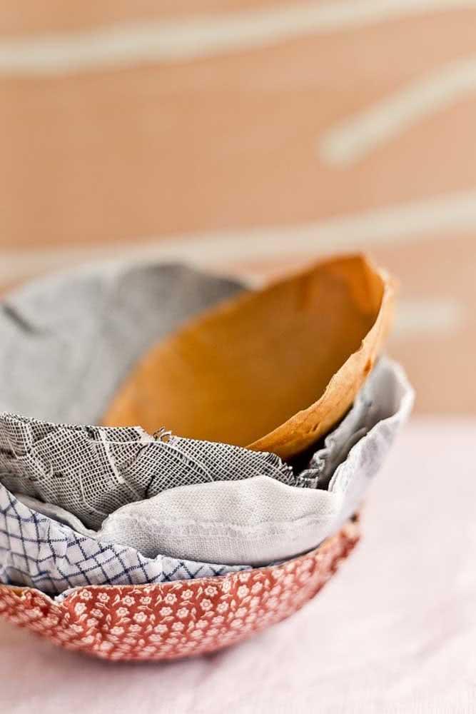Cumbucas de papel machê para usar como e onde preferir
