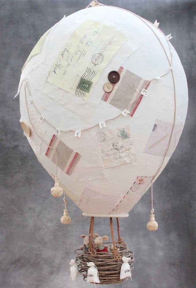 Balão de papel machê. A coisa mais fofa para decorar o quarto das crianças