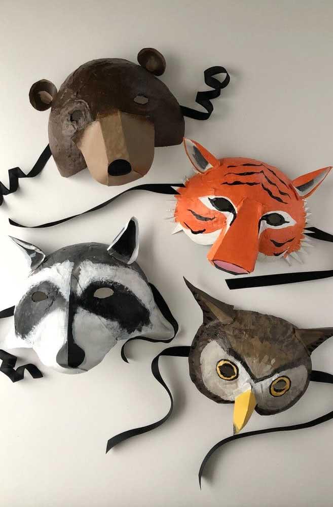 Máscaras de papel machê: brinque e se divirta com os animais
