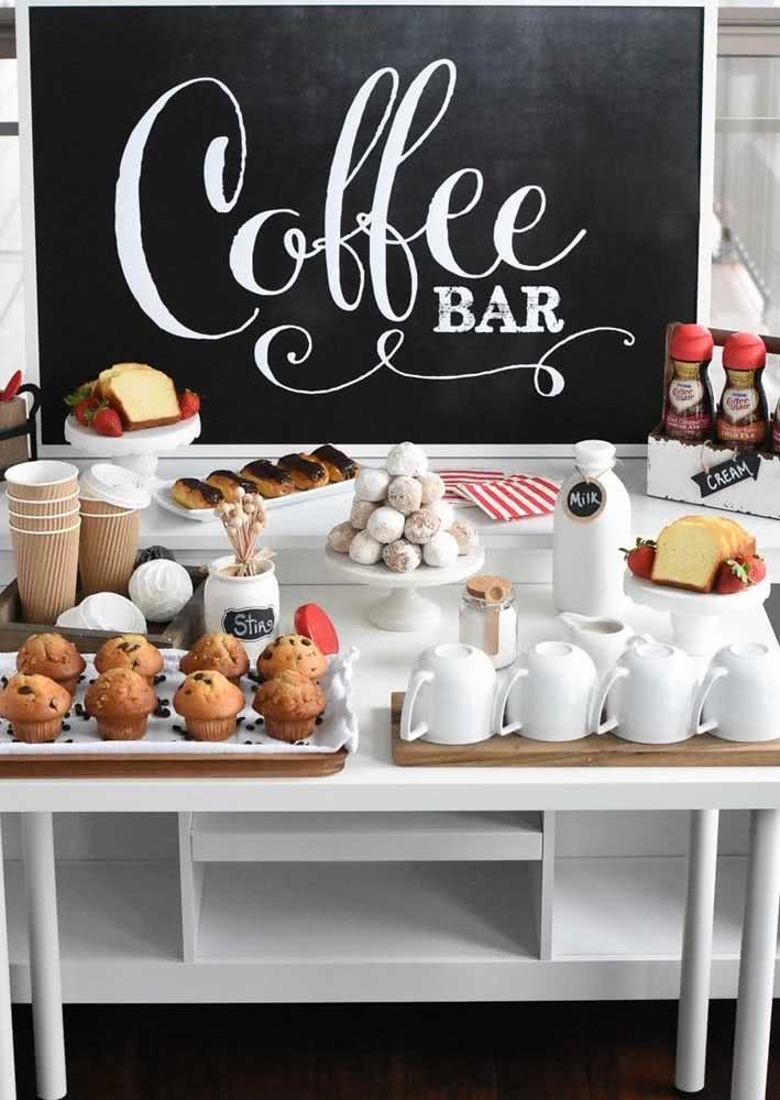 Mesa de café da manhã para recepcionar bem suas visitas