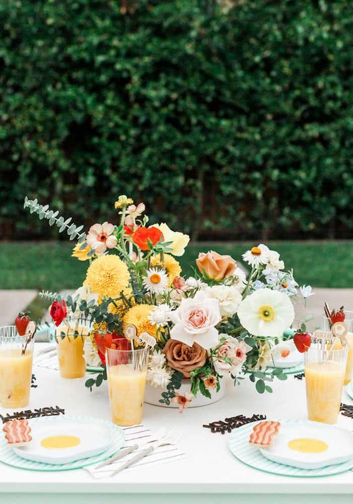 As flores amarelas ajudam a dar bom dia