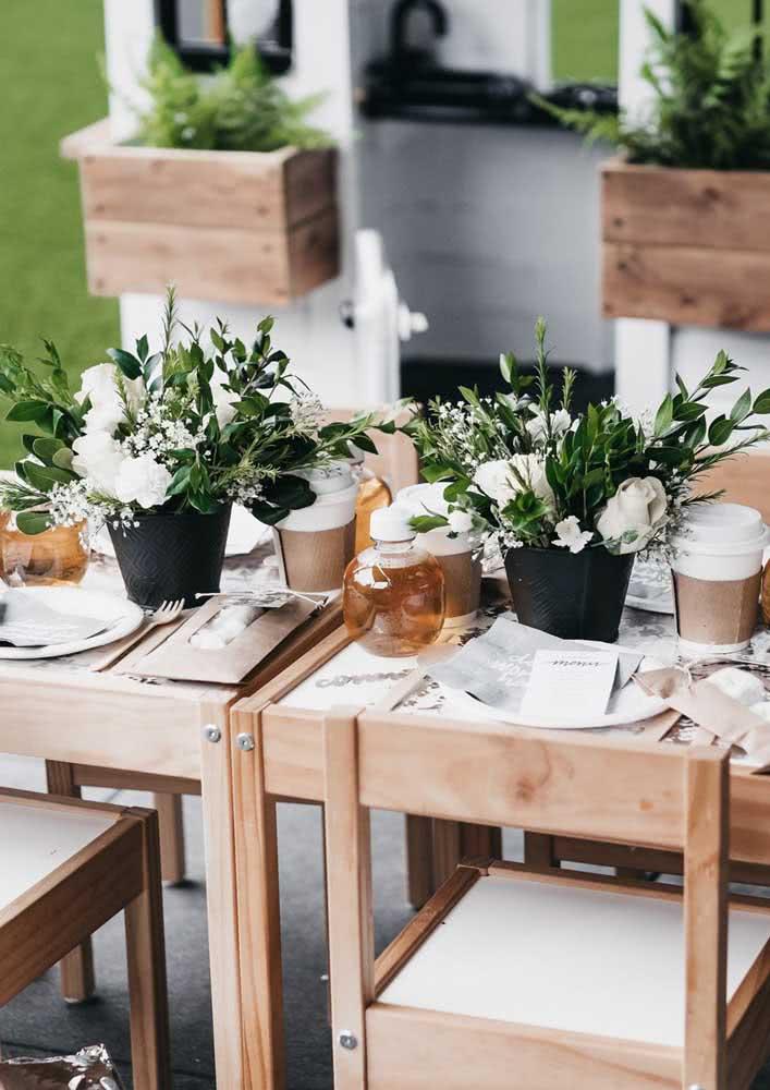 E com mesas ao ar livre!