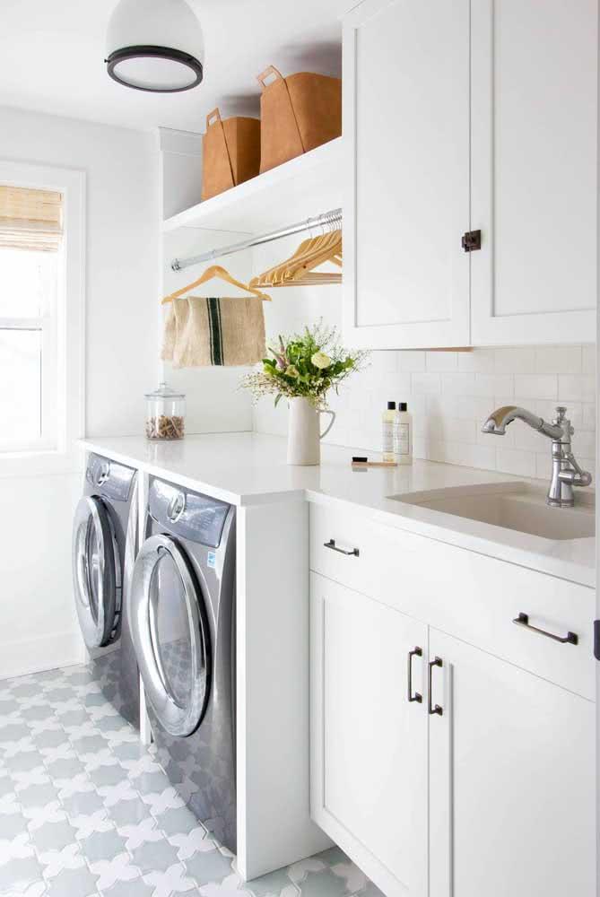 Cestos organizadores são perfeitos para manter a lavanderia linda e em ordem