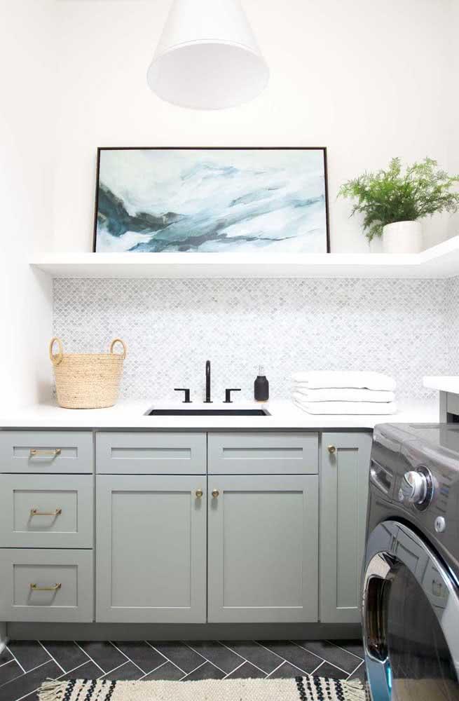 Já pensou em levar um quadro para a lavanderia? Pois deveria!