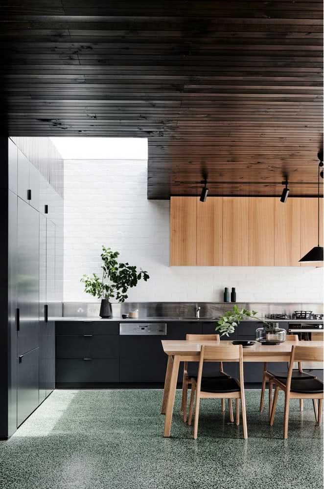 Parede de tijolinhos brancos na cozinha: clean e moderna como manda o projeto