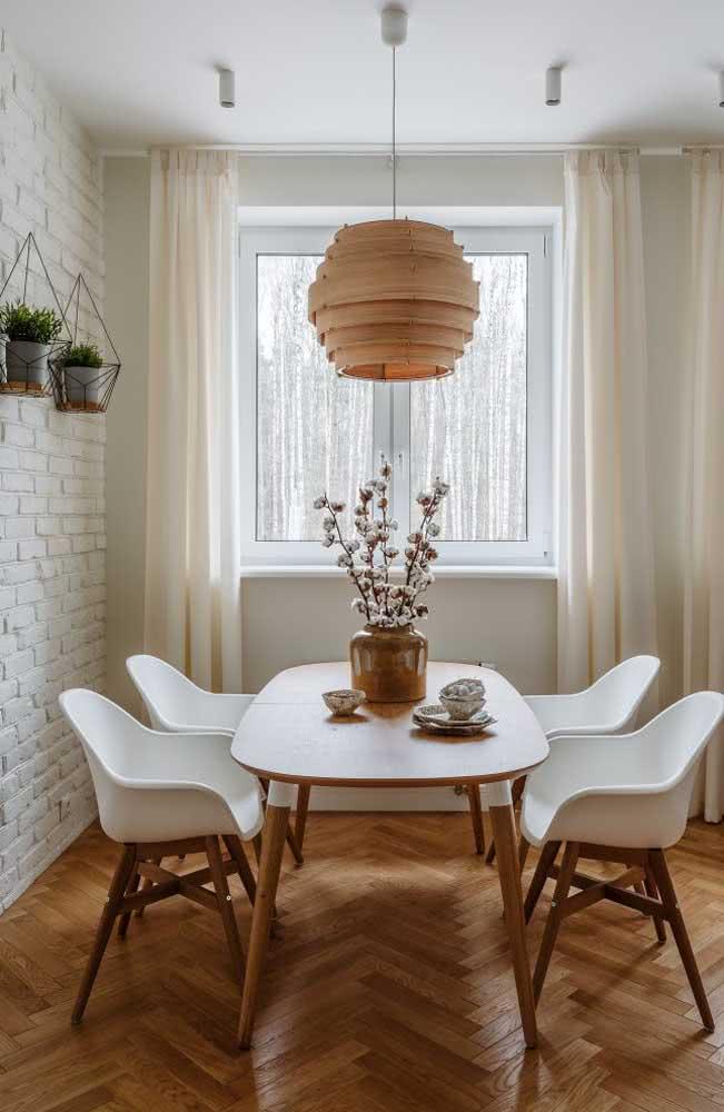 Tons naturais e tijolinhos brancos: uma composição imbatível!