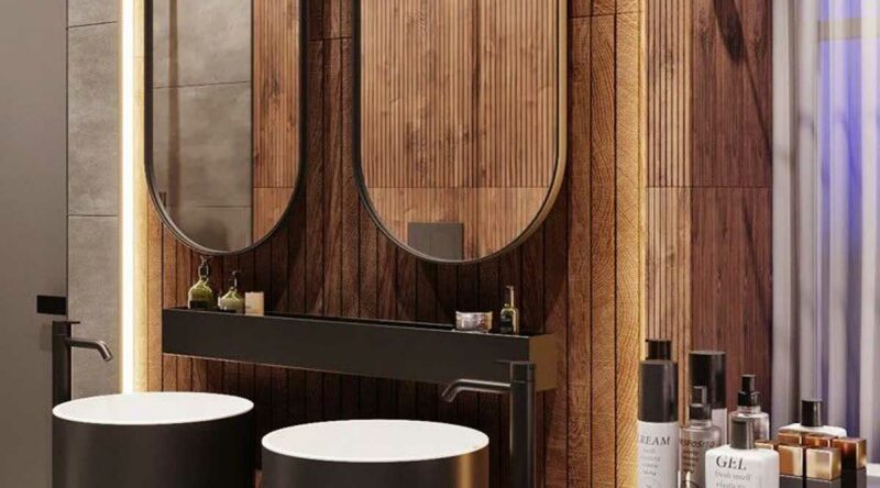 Banheiro amadeirado: vantagens, desvantagens, dicas e fotos para se inspirar