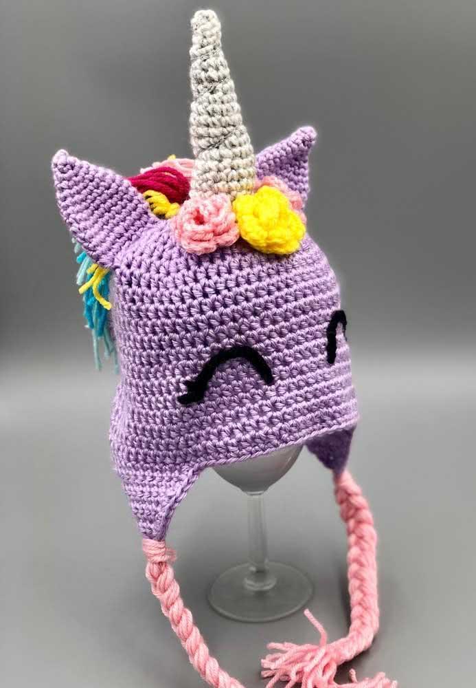 Escolha as cores para o seu unicórnio de crochê e seja feliz!