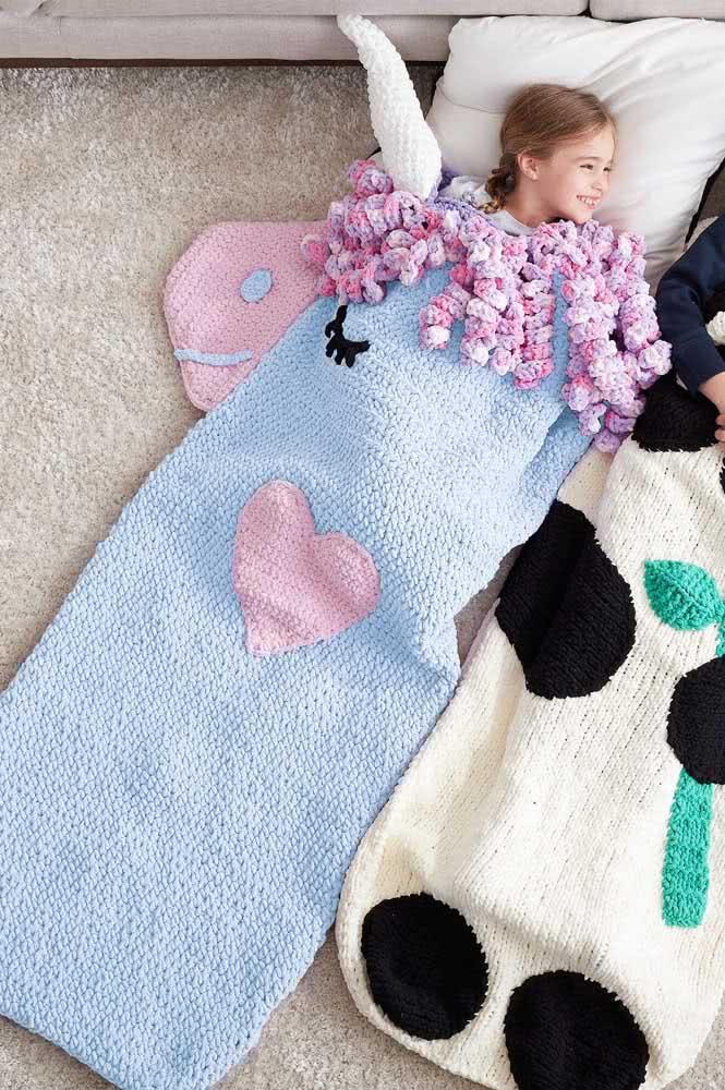 Um unicórnio de crochê perfeito para dormir!
