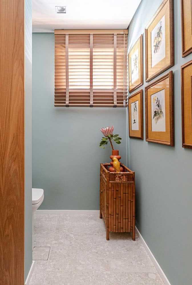 E no banheiro? Também tem composição de quadros!