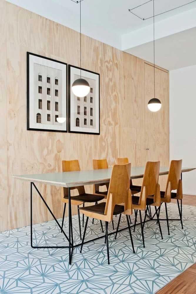 Composição de quadros moderna e minimalista para sala de jantar