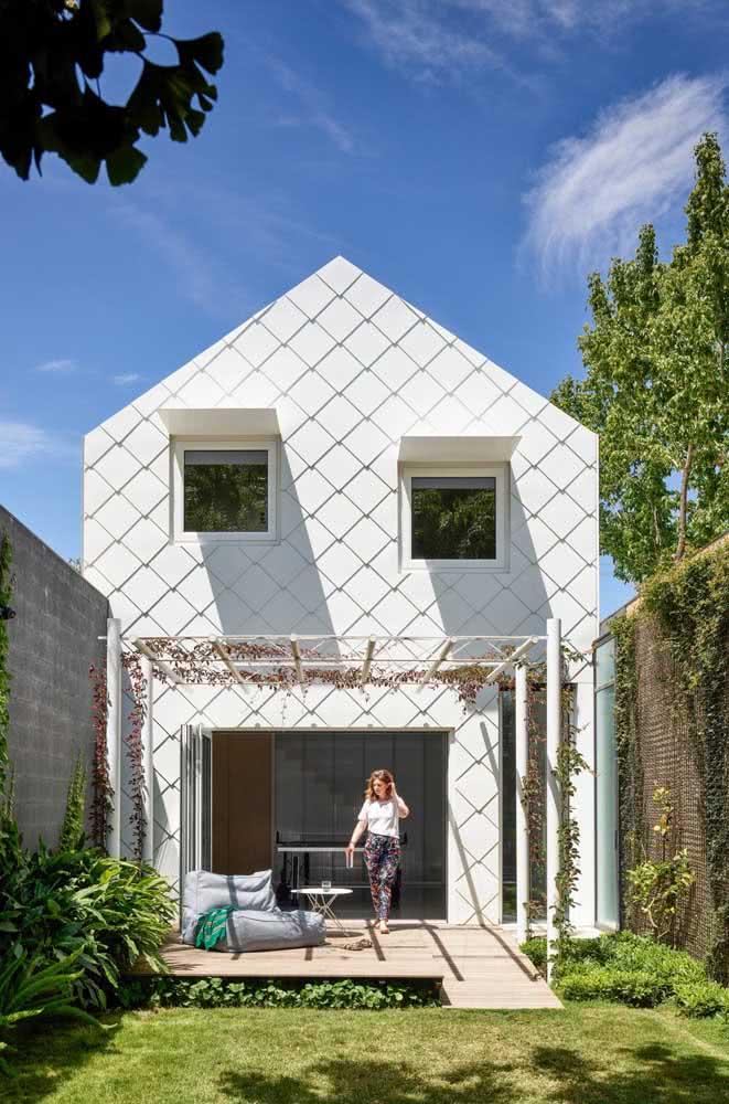 Simplicidade também faz parte das fachadas modernas