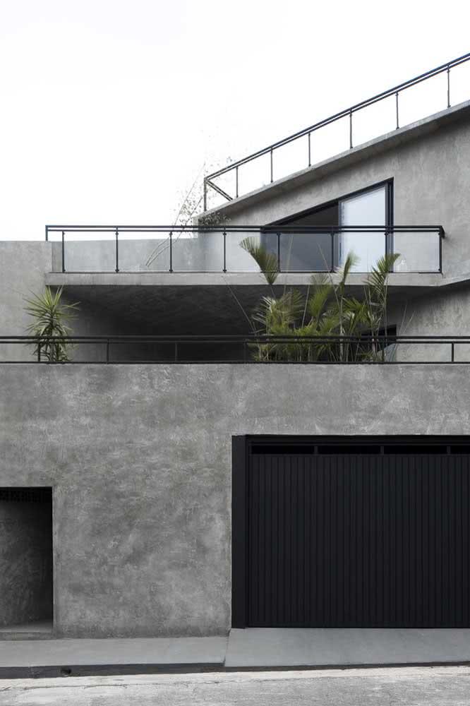 Cimento queimado é a grande tendência do momento, inclusive para fachadas modernas