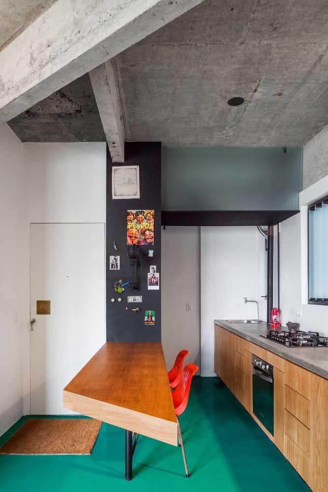 Um corte diferenciado e criativo para inovar no design da bancada suspensa