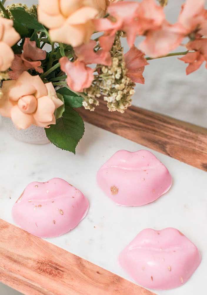 Beijinhos cor de rosa!