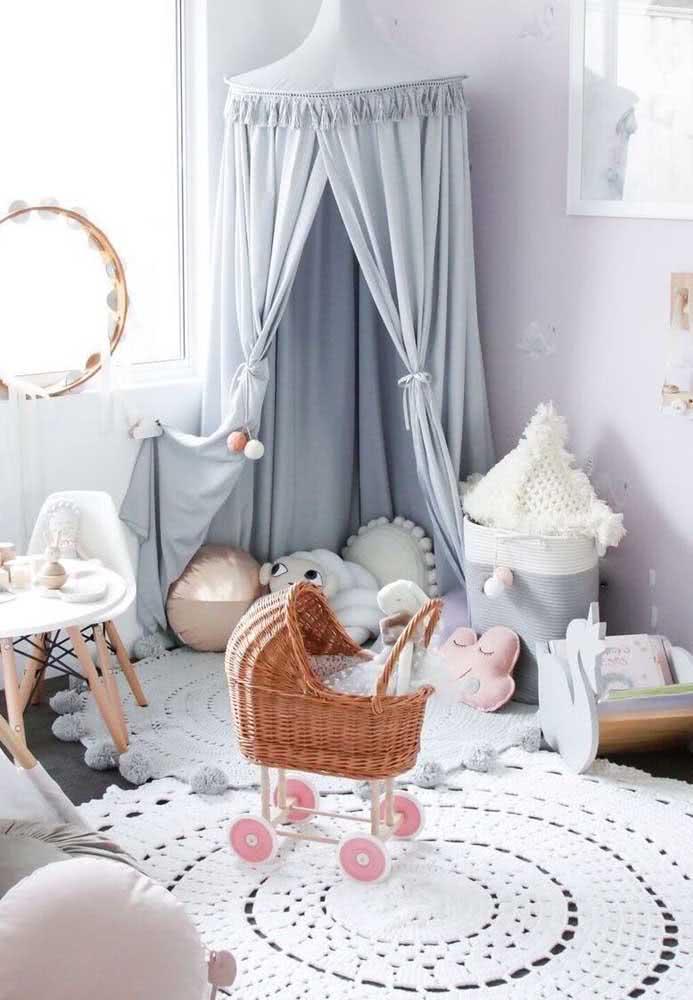 O tapete de crochê pode ter o tamanho e as cores que você quiser! A técnica permite todo tipo de personalização
