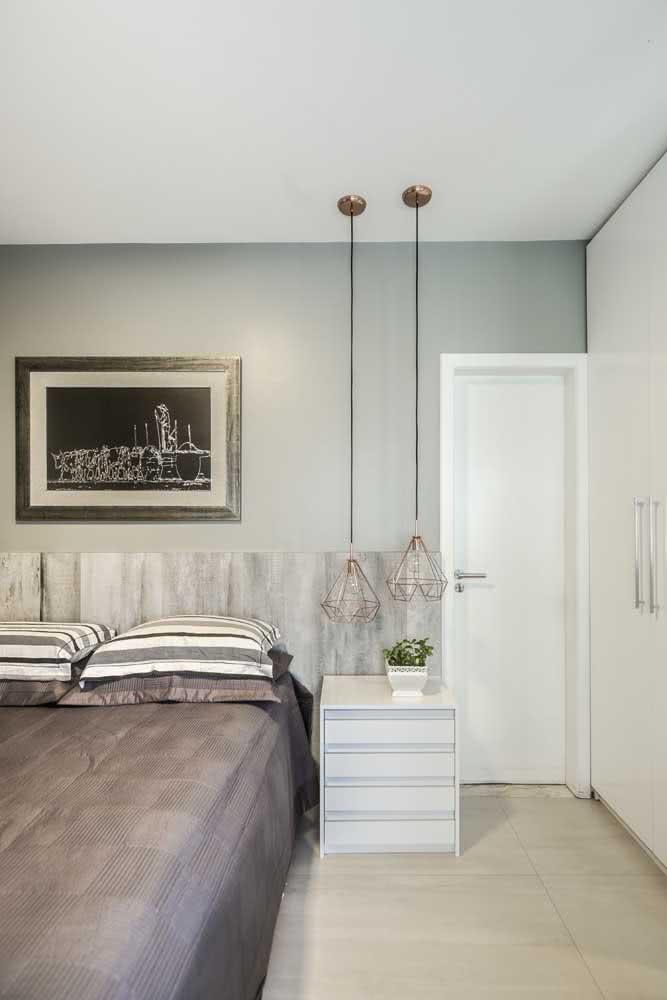 Cerâmica simples compondo um quarto moderno e elegante