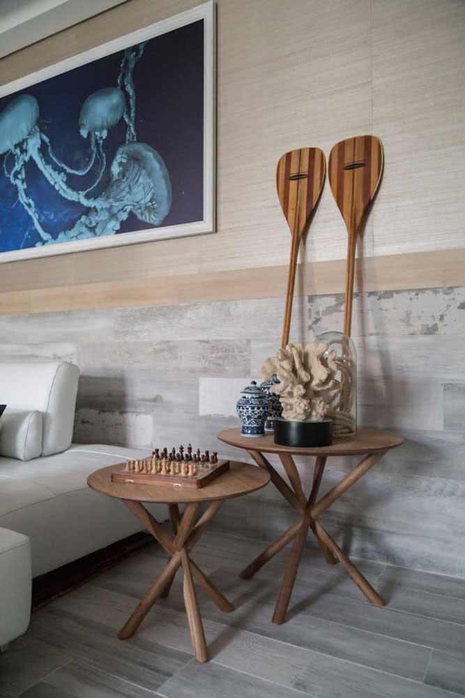 Um quarto, três cerâmicas diferentes