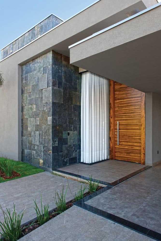 A ardósia é uma excelente opção para o revestimento de fachadas