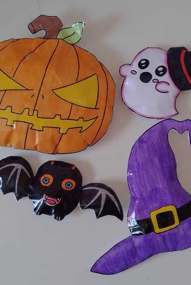 Paper squishy inspirado no Halloween