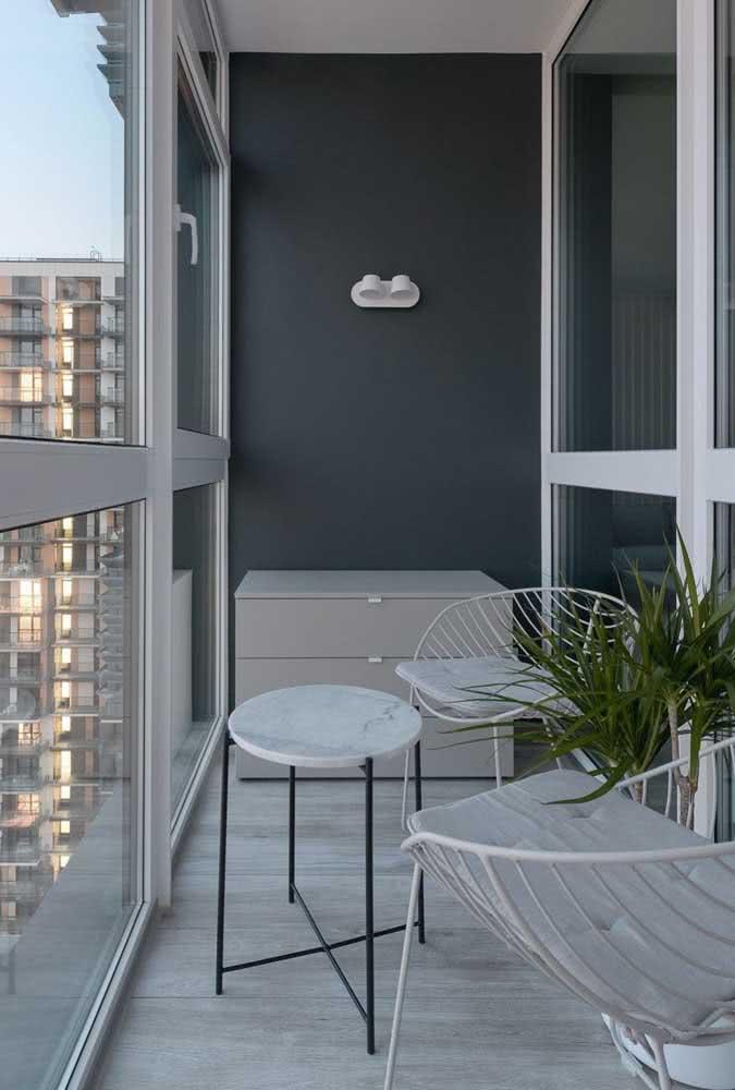 Móveis modernos para a varanda pequena