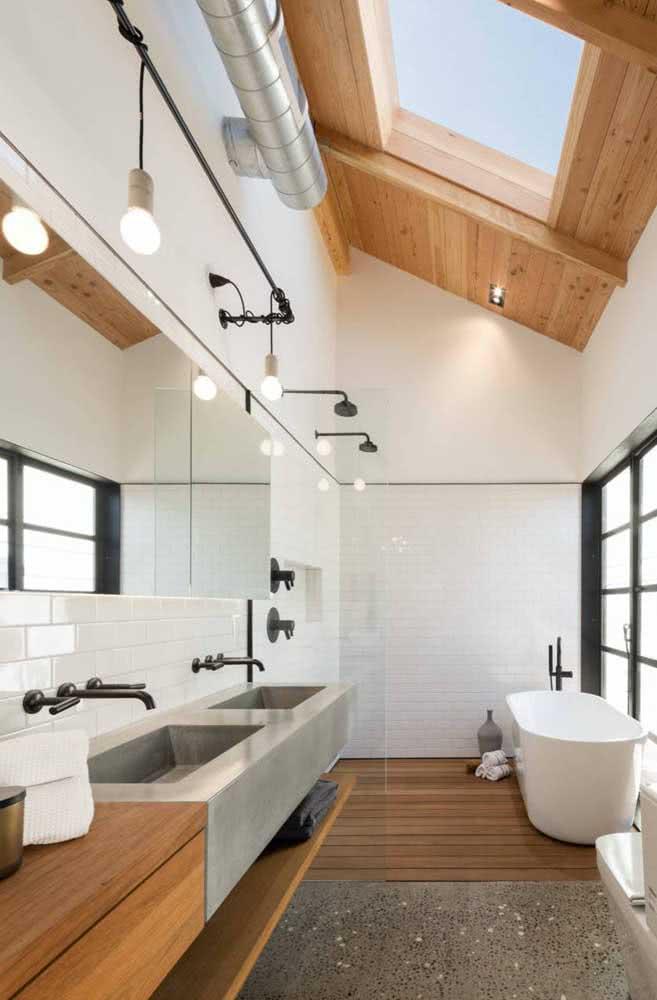 Luminária de trilho para o banheiro: reforce a luz nos espelhos