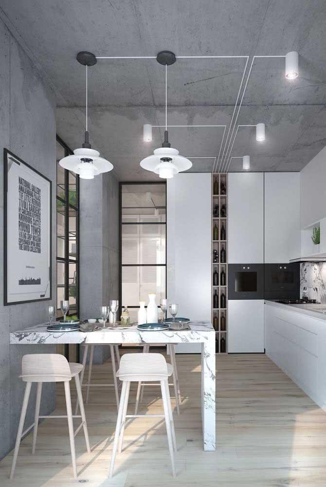 Com um único ponto de luz você ilumina toda a cozinha