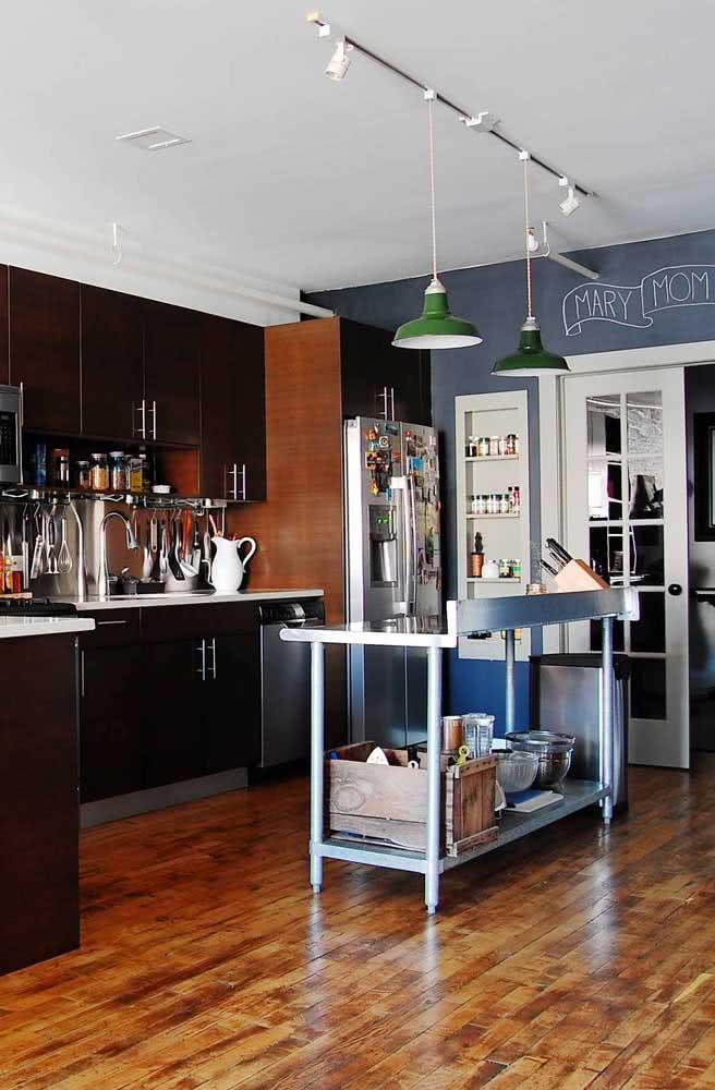 Luminária de trilho suspensa para a bancada da cozinha