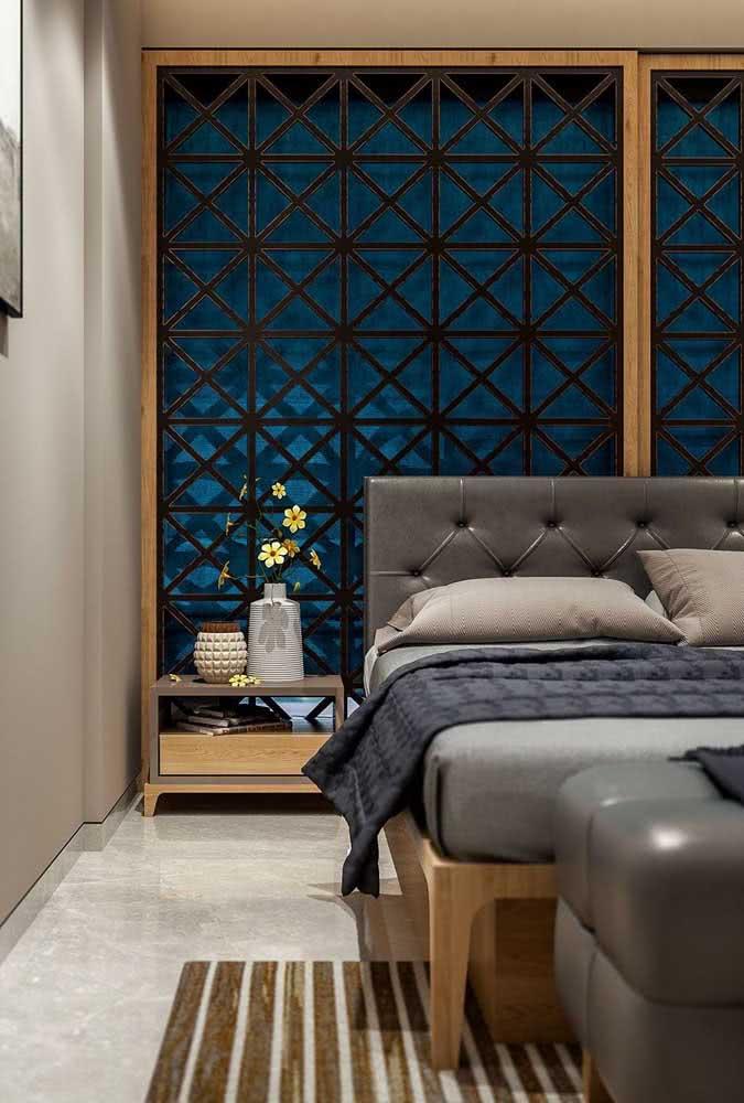 Painel de madeira ornamentado para o quarto de decoração indiana