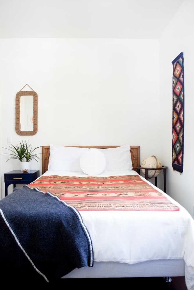 Mantas indianas são perfeitas para forrar a cama