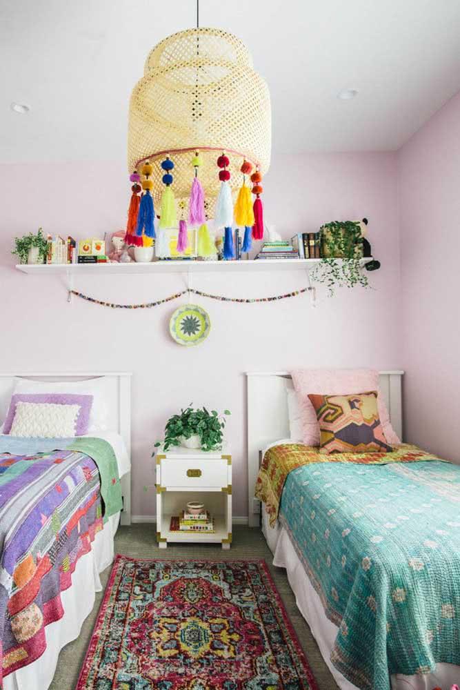 O quarto das crianças também pode receber um toque da decoração indiana pra fugir do comum