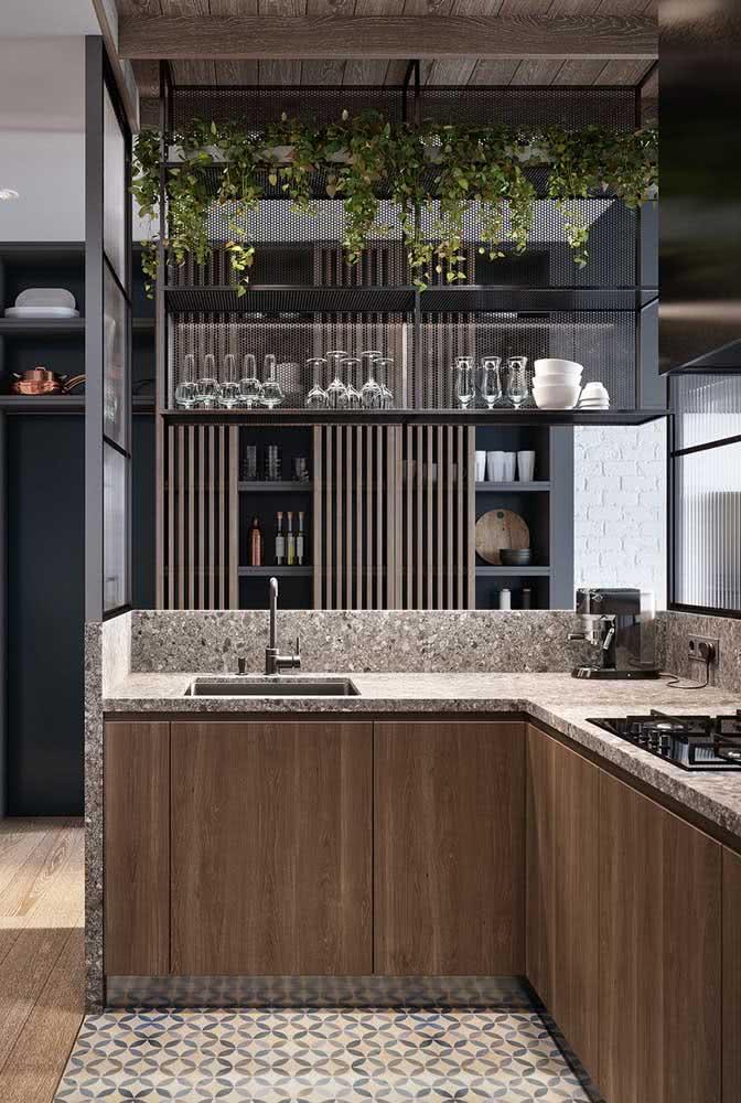 Cozinhas modernas são a cara do granito cinza