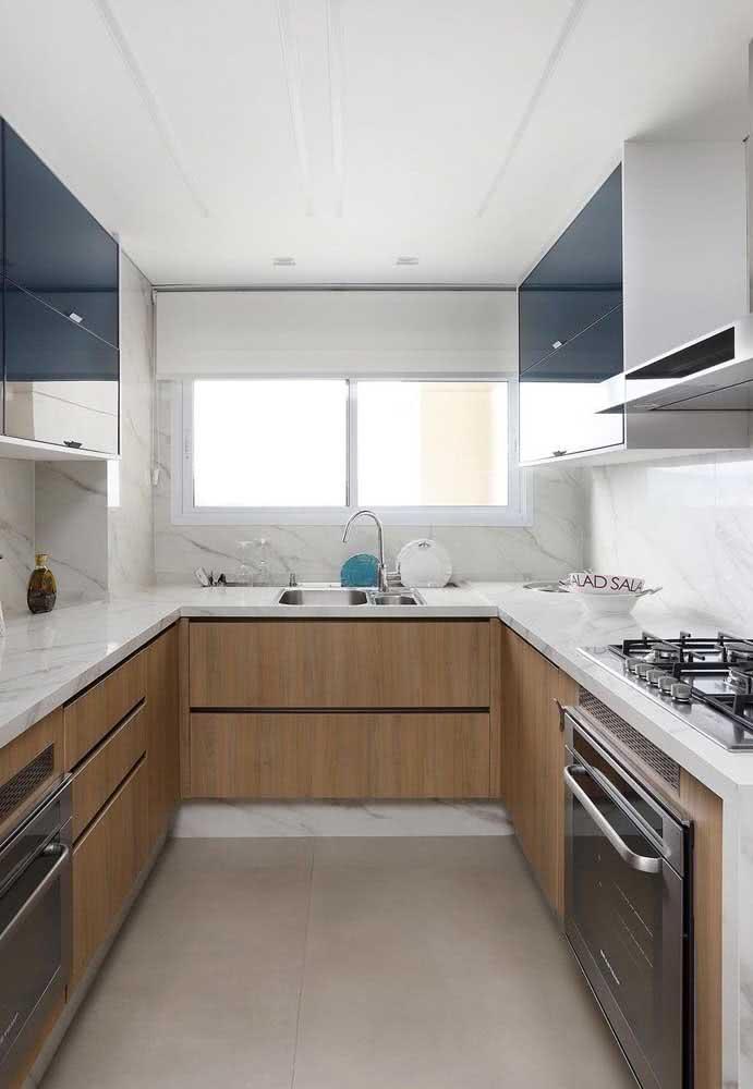 Cozinha sob medida em U: um projeto para cada formato