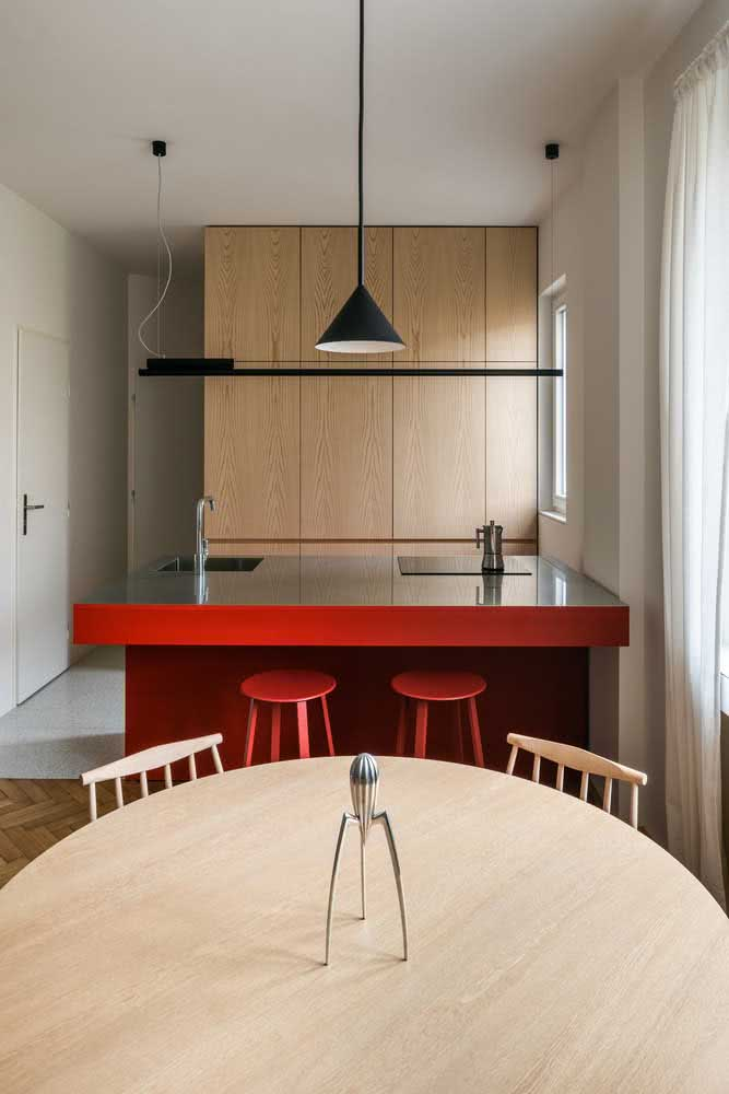 Cozinha sob medida pequena e minimalista