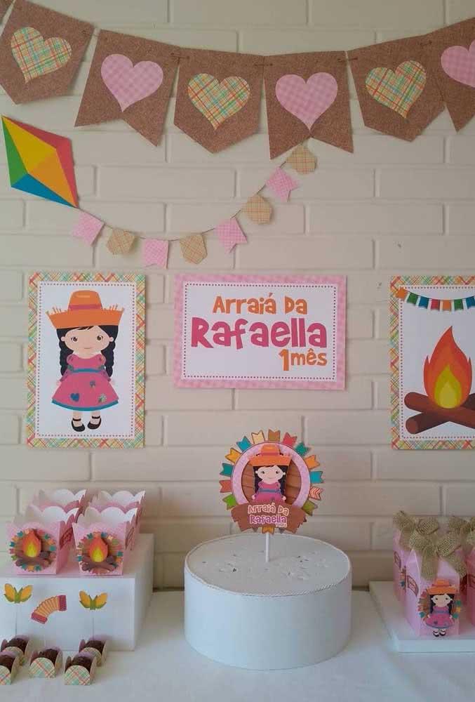Balão de festa junina em EVA para decorar a festa de aniversário infantil