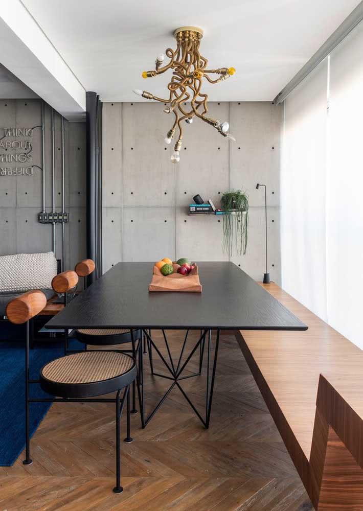 Sala de jantar grande integrada com a sala de estar: harmonia entre os ambientes