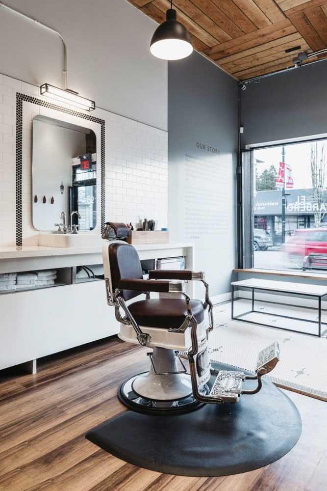 Dê uma atenção especial para a cadeira do barbeiro