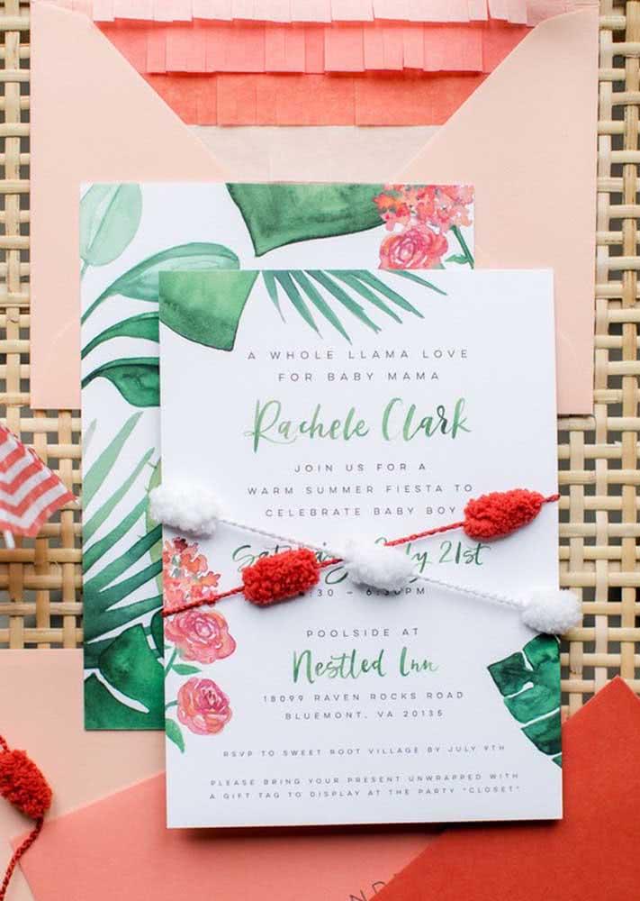 O branco também é uma excelente cor como base do papel para a impressão do convite.