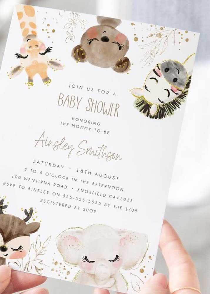 Junte-se a nós para um chá de bebê com o tema animais do zoológico.