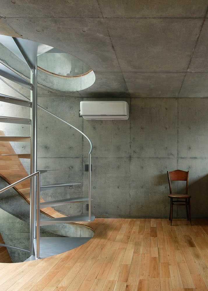 Ambiente moderno com concreto aparente.