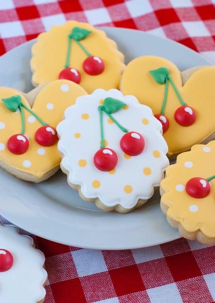 Biscoitinhos decorados com o tema da festa