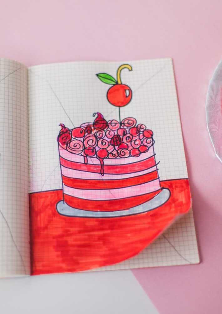 Que tal um rascunho no papel antes de confeccionar o bolo de verdade?