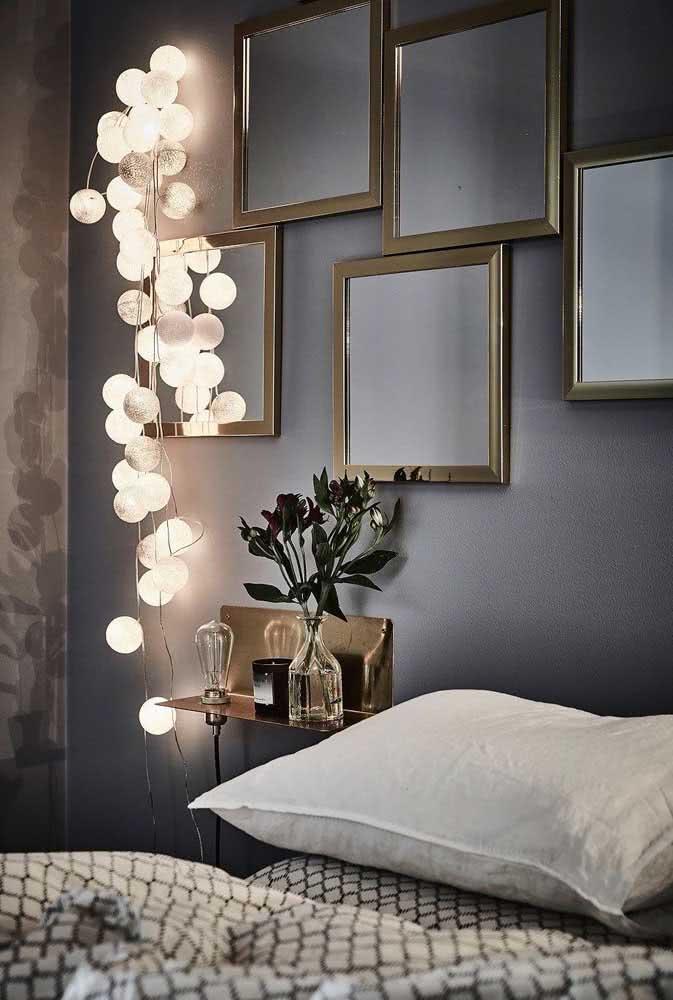 Iluminação criativa para o quarto