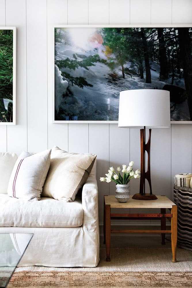 Revestimento de madeira para uma sala clássica e elegante