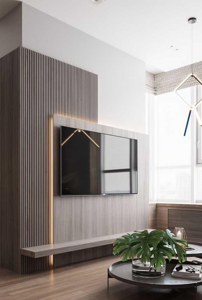 Painel de madeira em duas partes para a sala pequena