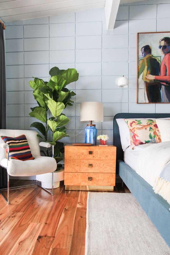 Tem uma boa iluminação no seu quarto? Então bora colocar a Ficus por lá!