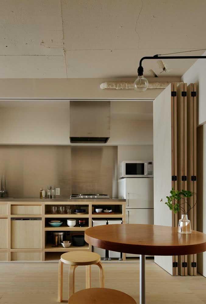 """Um biombo para deixar a cozinha """"escondida"""" quando precisar"""