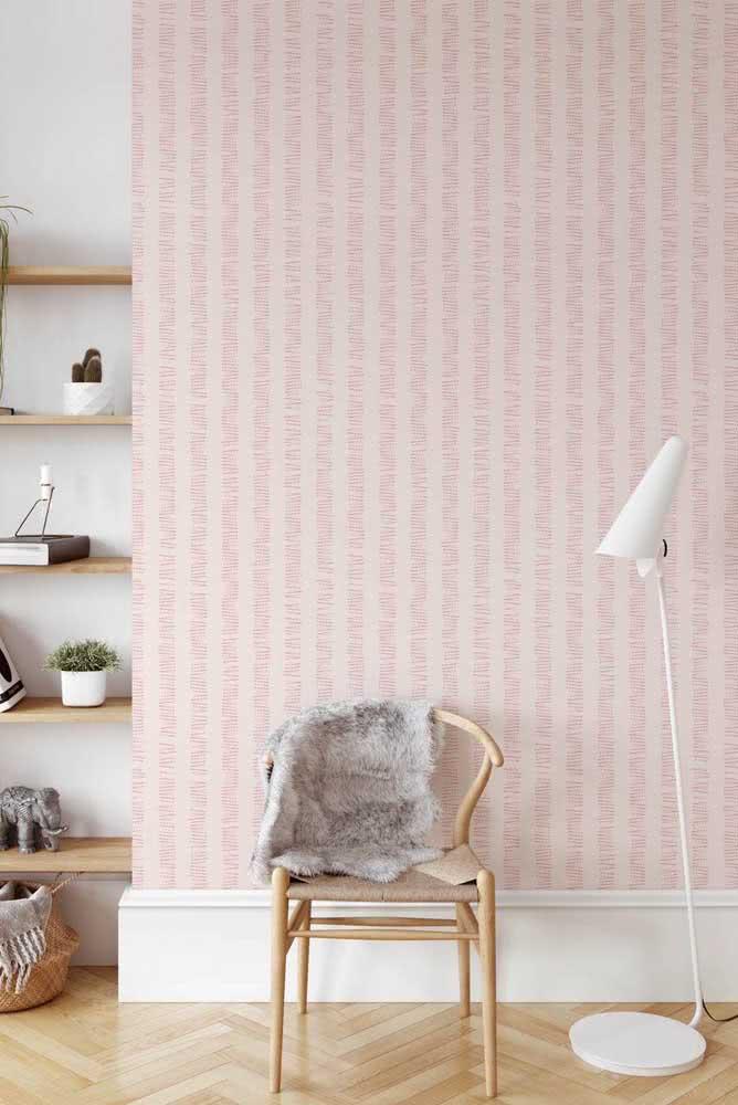 Fundo rosa para o papel de parede listrado