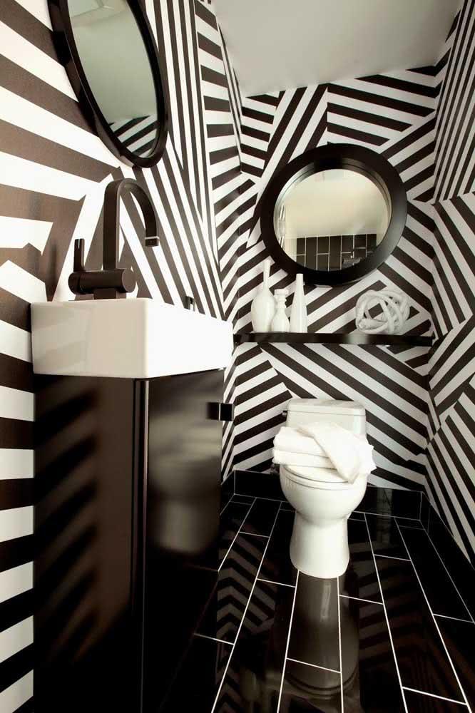 Os lavabos são perfeitos para explorar padrões de linhas diferenciados